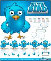 Blue Bird/Twitter Bird Mascot Kit
