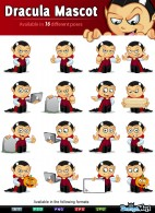 Dracula Mascot Character