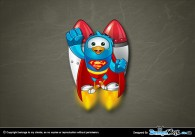 Superhero Twitter Bird